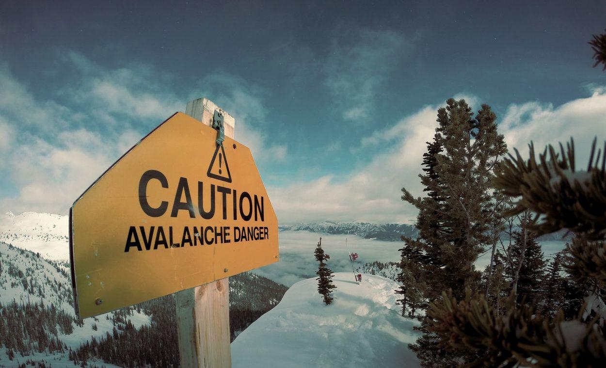 Skiën lawine
