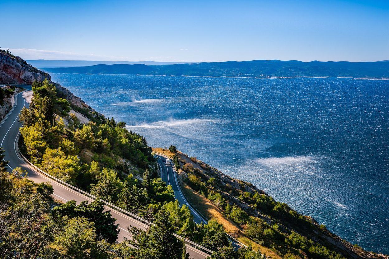Kroatië kustweg