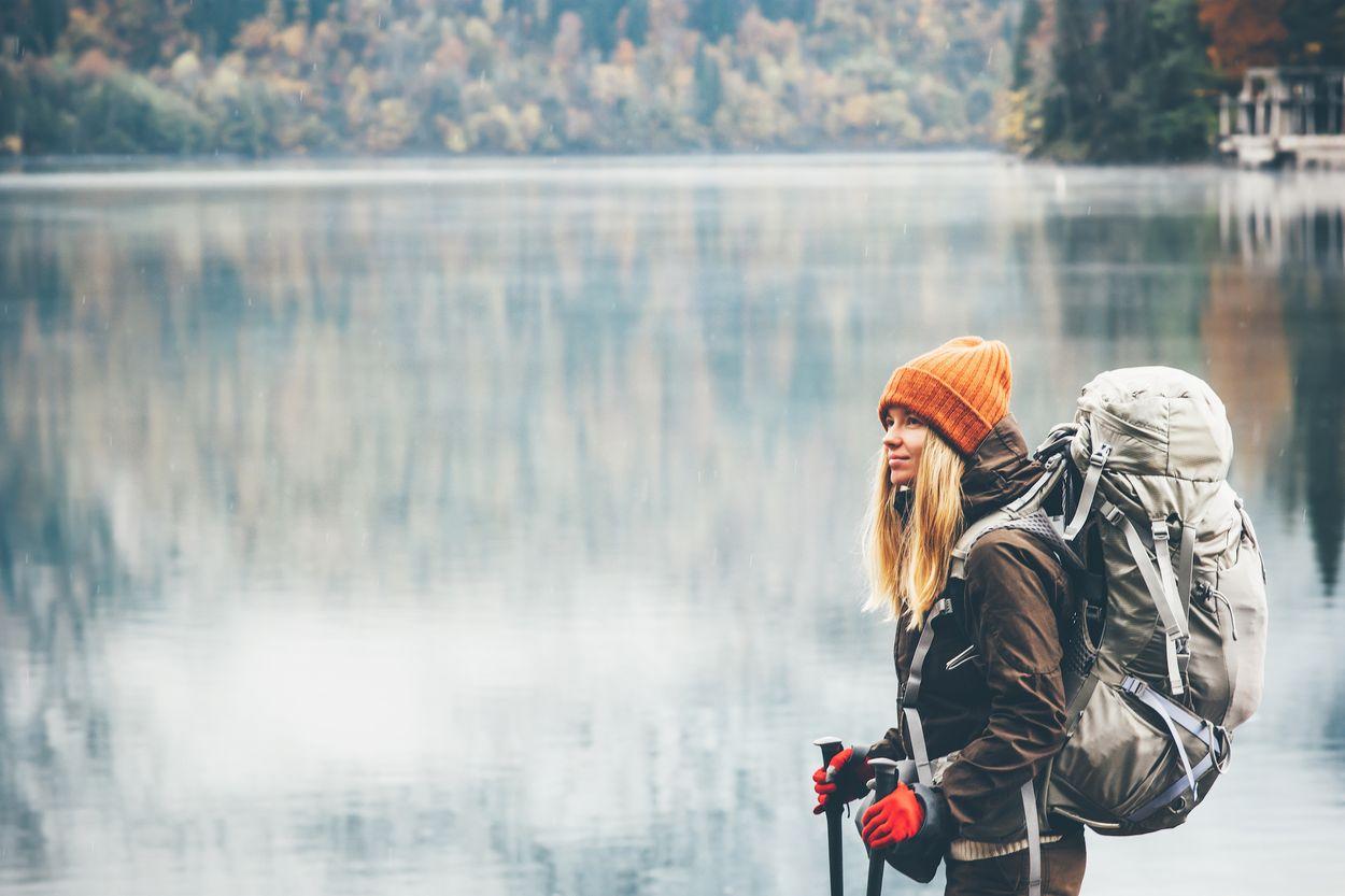 Girl backpack travel