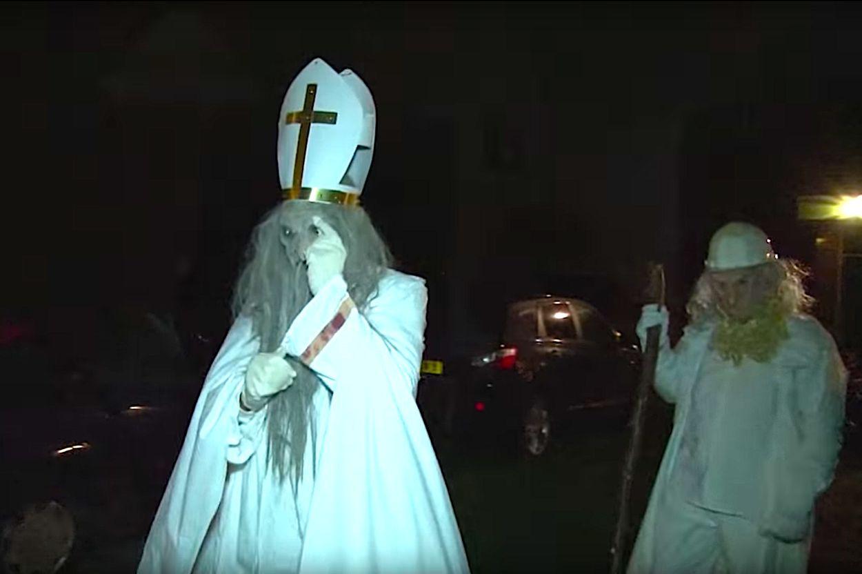 Afbeelding van Sinterklaas (ofwel Sunneklaas) op de Waddeneilanden is niet voor watjes