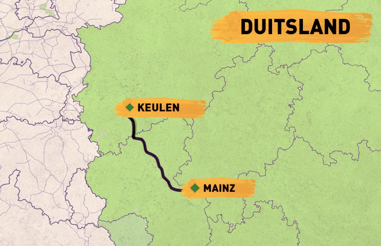 route trein keulen mainz duitsland