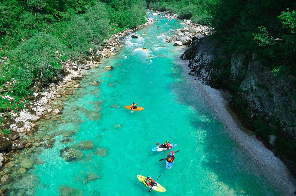 Slovenie Soca river