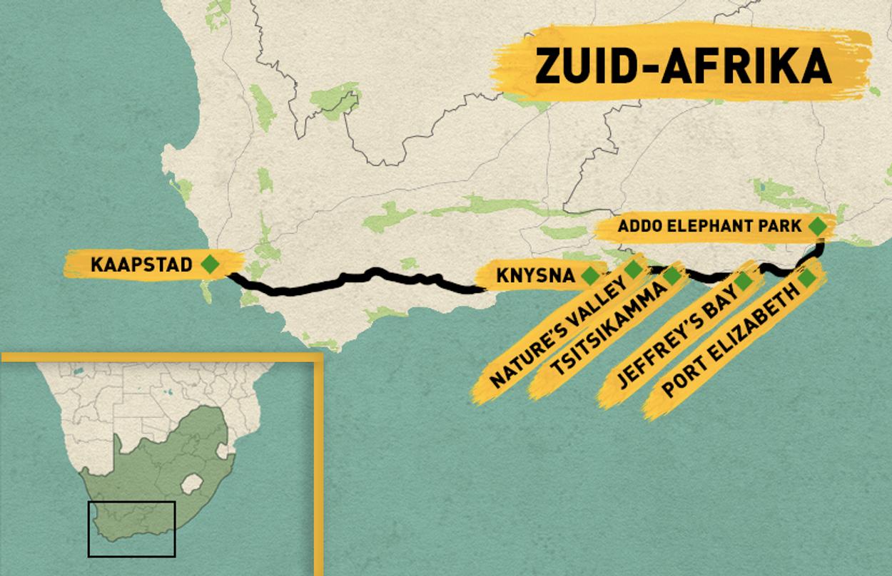 Routekaart Zuid-Afrika
