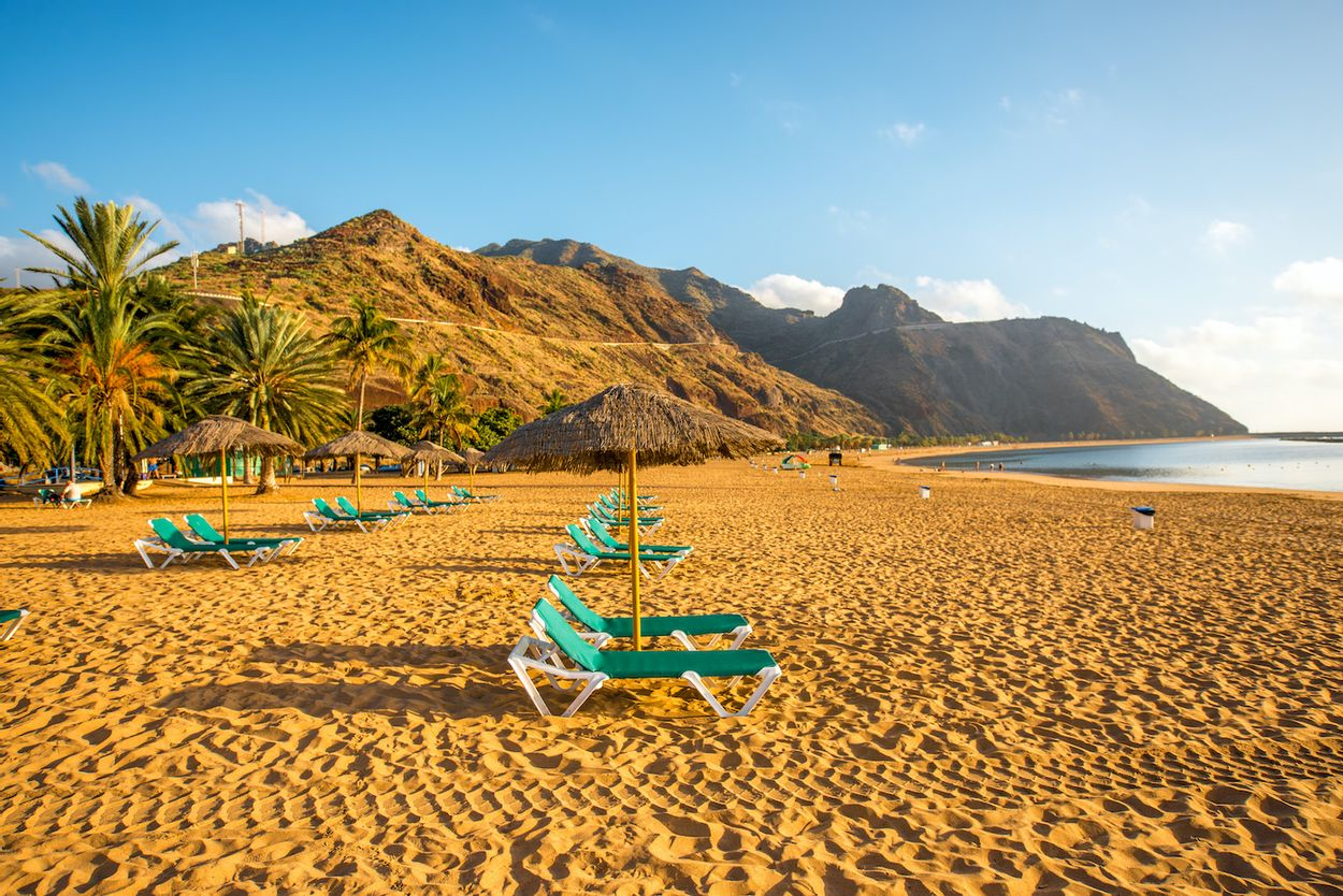 Leeg strand Tenerife
