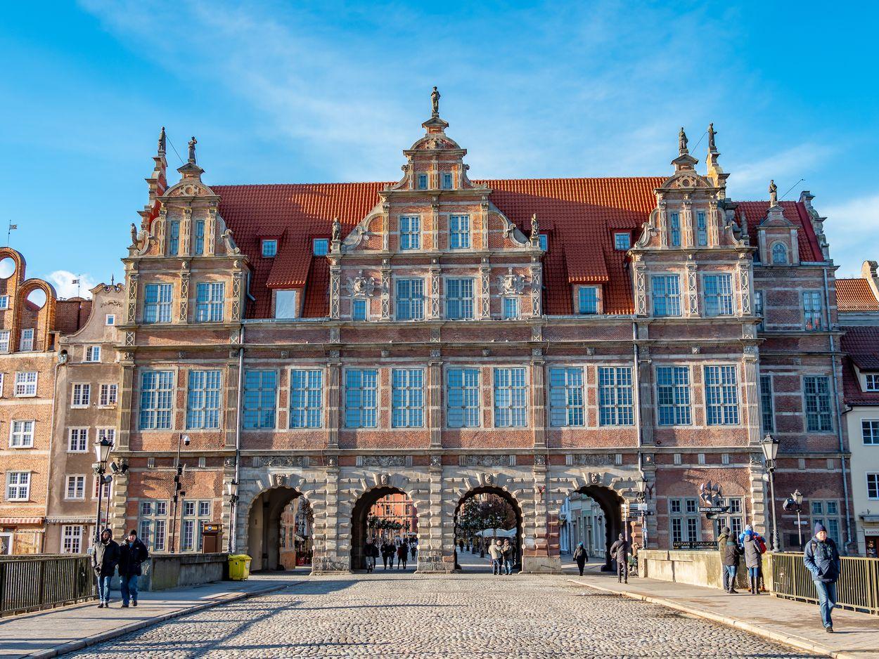 Groene poort Gdansk door Jarek Fethke