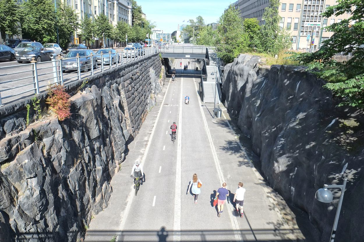 Cycle and bike paths Helsinki