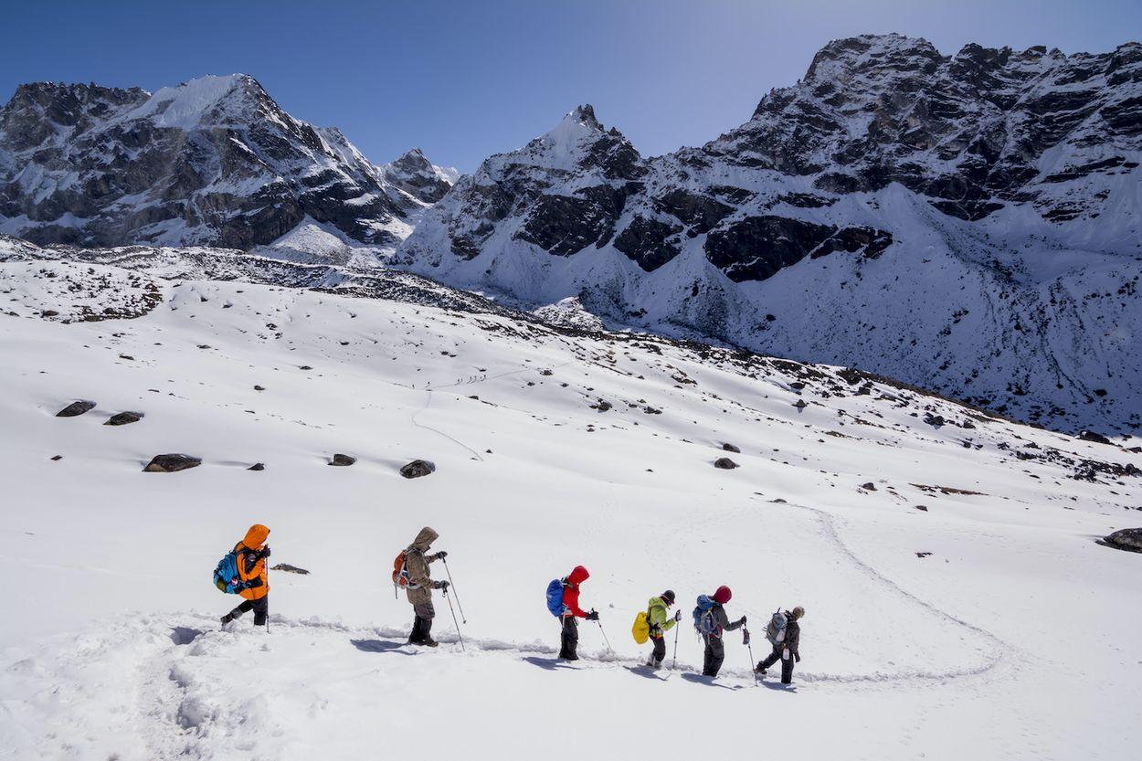 Klimmers in Himalaya